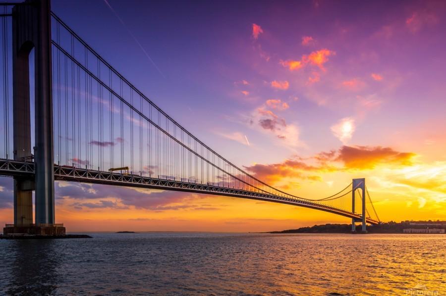 Verrazano bridge at sunset  Print