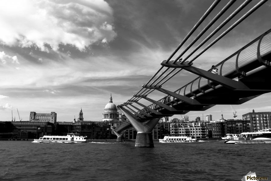 London Skyline -St Pauls Cathedral  Print