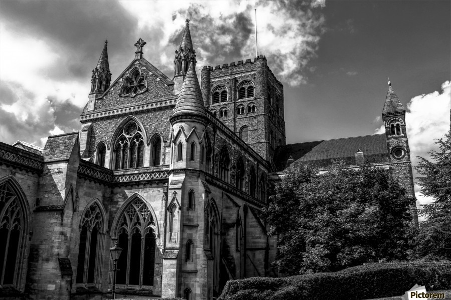 Cathedral   - Black and White image  Print