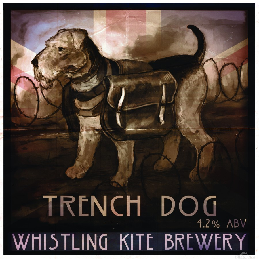 Whistling Kite Brewery: Trench Dog  Print
