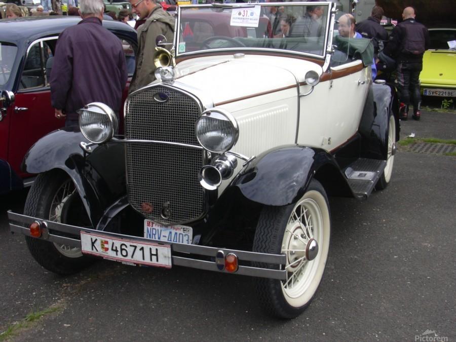 Vintage car in italian exposition  Print