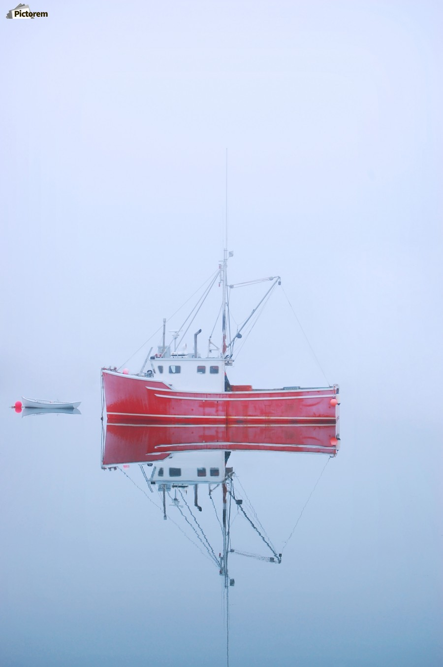 New Brunswick - fishing boat reflected in water  Print