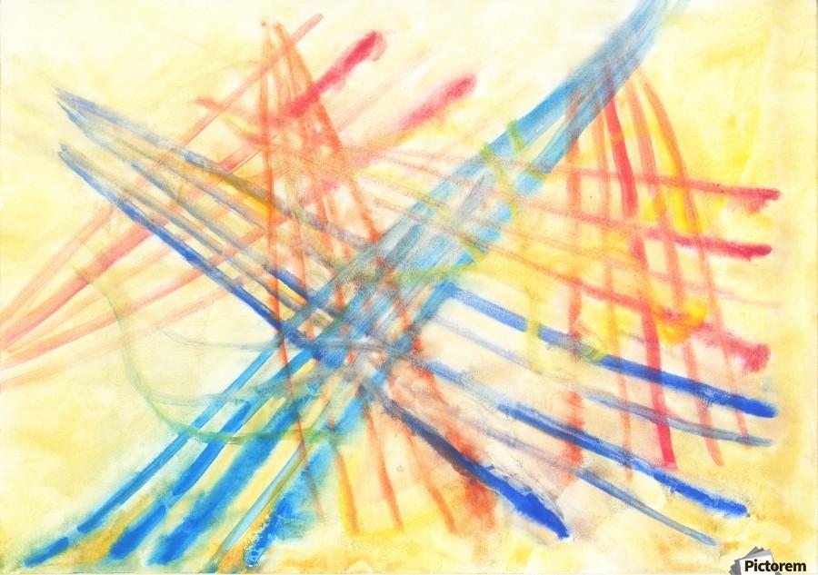 Scratches 2 (Joan Miro tribute)  Print