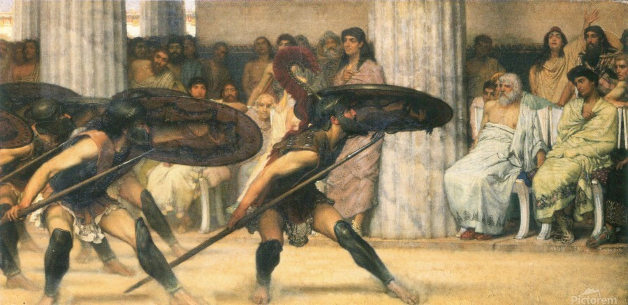 A dance for Phyrrus by Alma-Tadema  Print