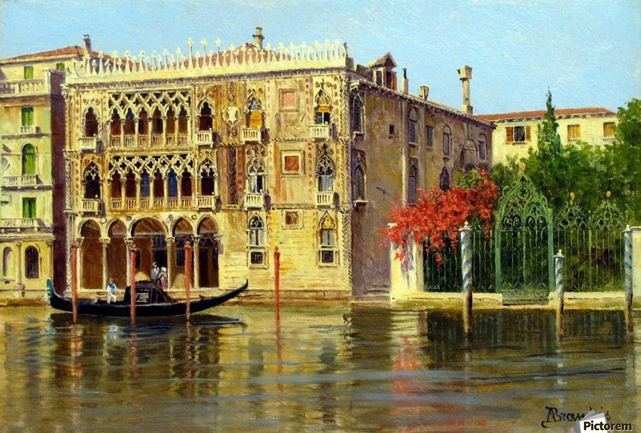 Along the Grand Canal in Venice  Print