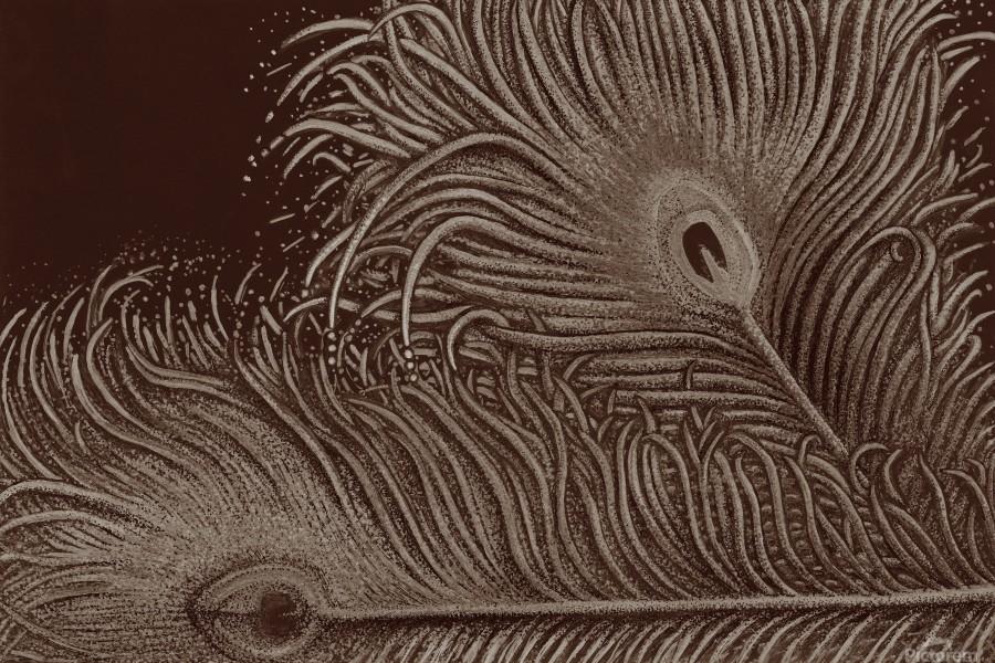 Full Bloom Sepia  Print