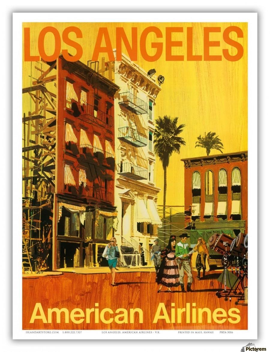 American Airlines Los Angeles Vintage Travel Poster VINTAGE - Los angeles posters vintage