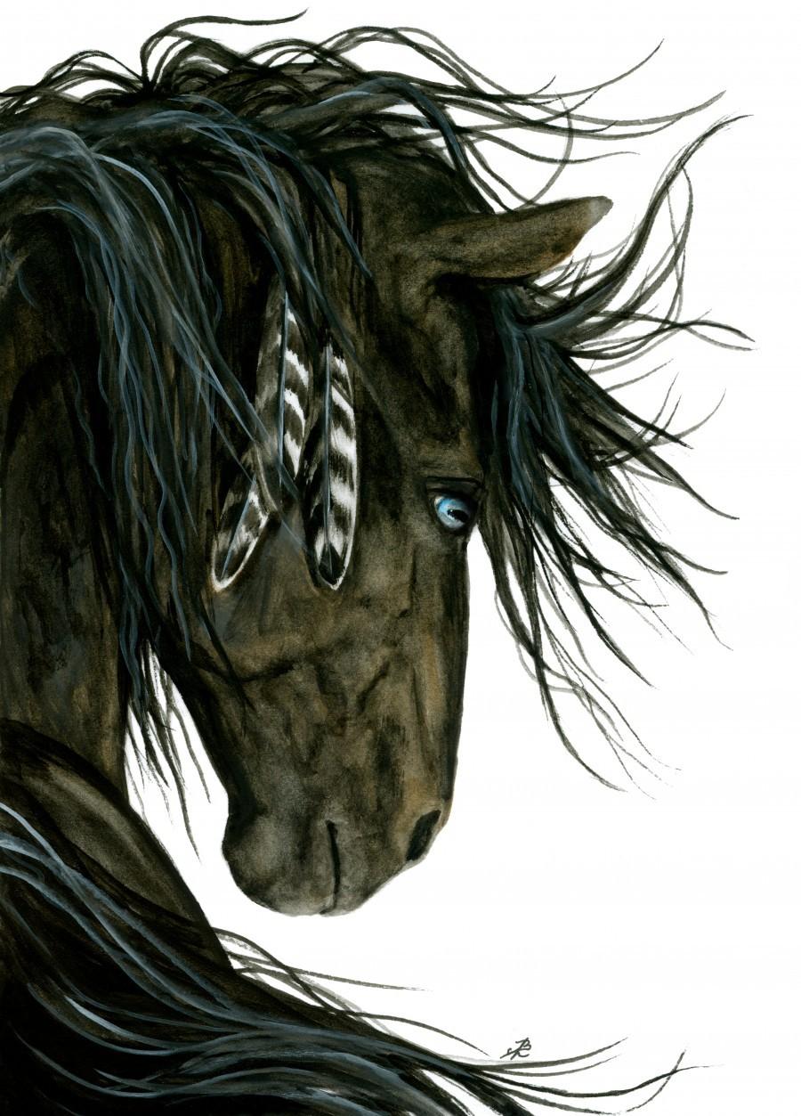 Blue Eyed Spirit Horse Amylyn Bihrle