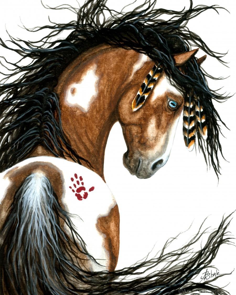 Majestic Pinto Horse  Print
