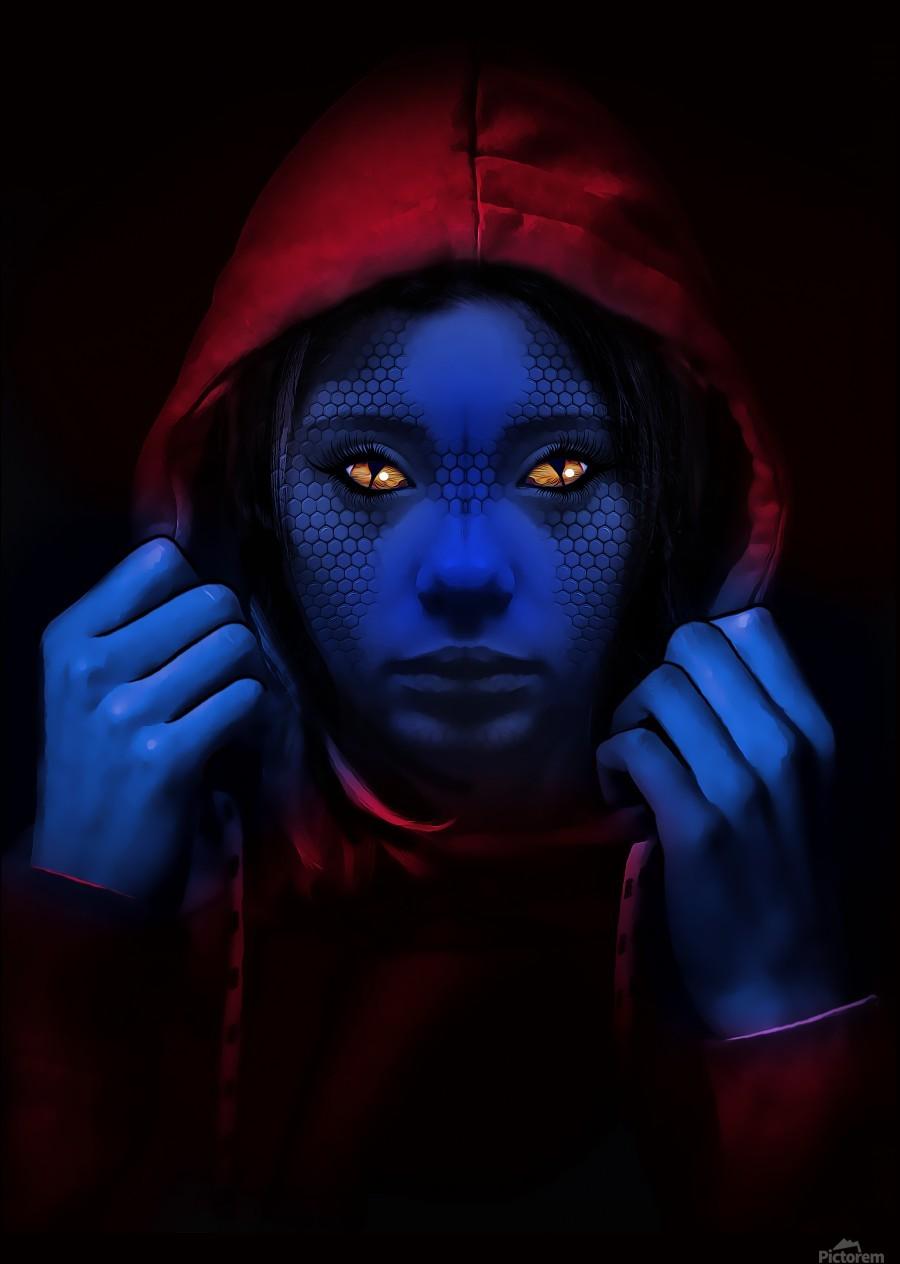 Blue Indigo  Print
