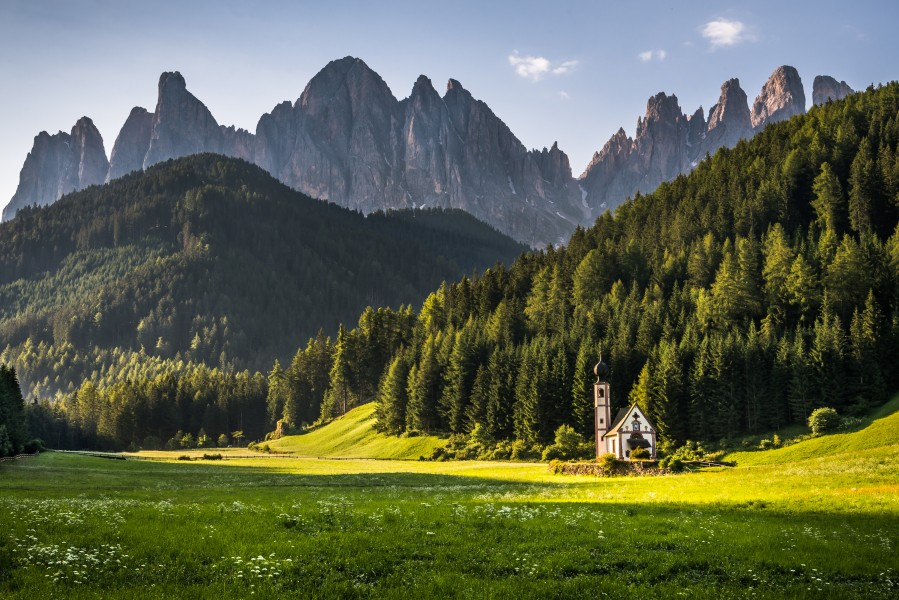 Church Before The Dolomites Andreas Wonisch Canvas