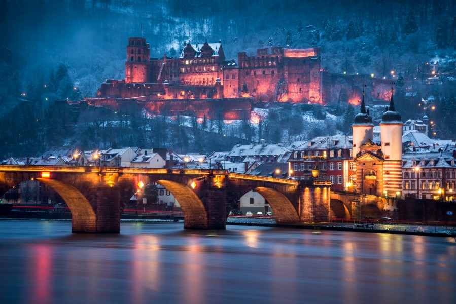 Heidelberg Castle And Old Brige In Winter Andreas