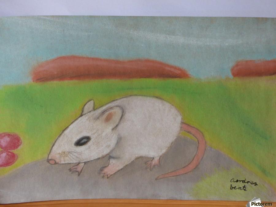 White mouse  Print