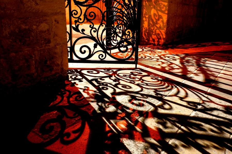 Courtyard shadows  Print