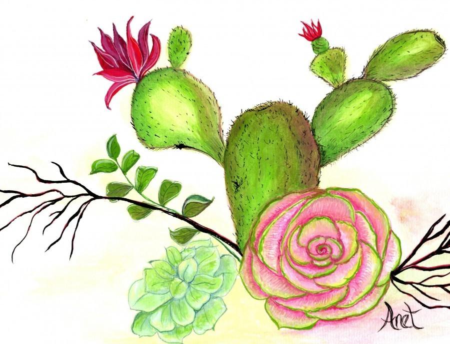 Flowering Cactus   Print