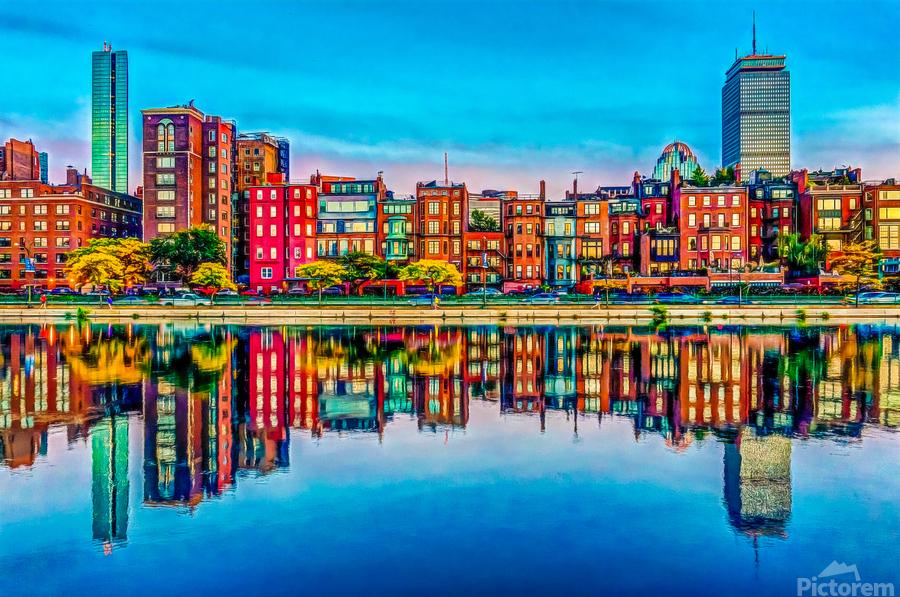 Boston Back Bay reflection  Print
