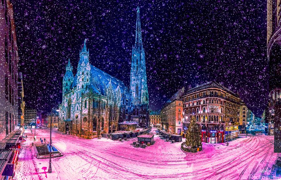 Christmas in Vienna  Print