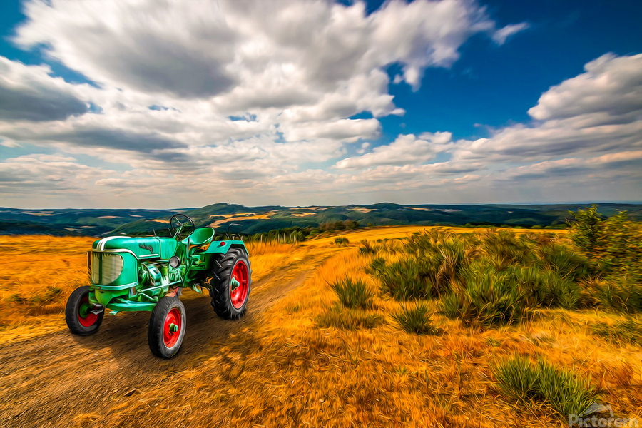 My Green Tractor  Print