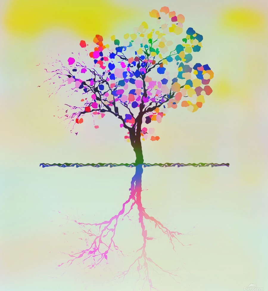 Colorful Tree 2  Print
