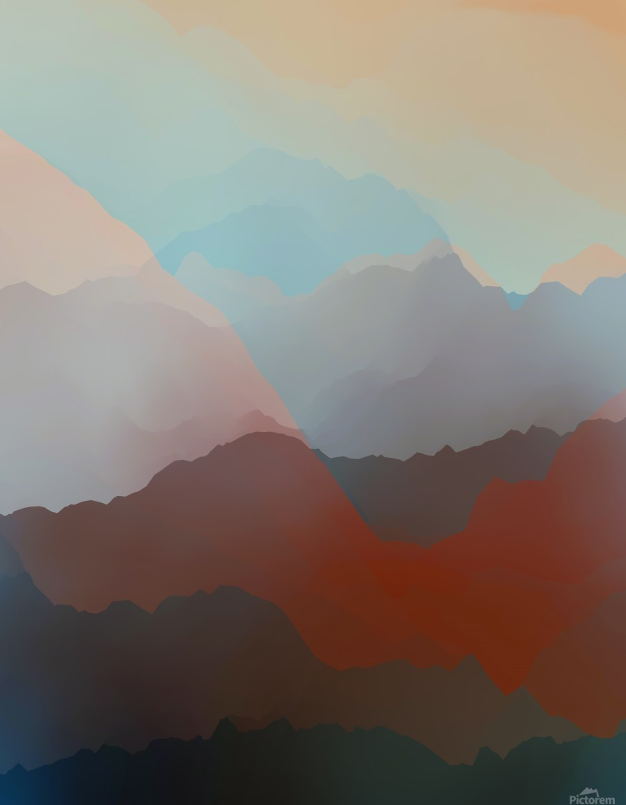 Beautiful Mountains 2  Print
