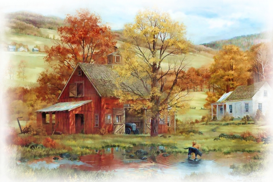 Country Living  Print