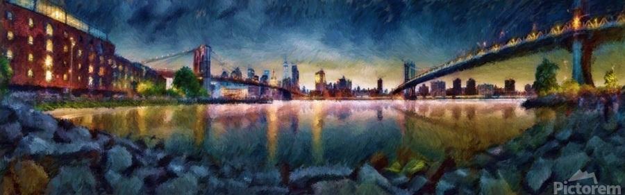 Brooklyn Cove Panorama Painting   Print