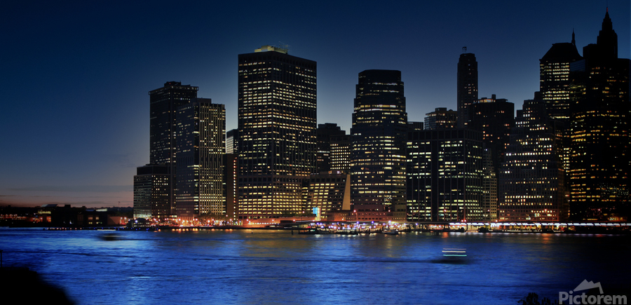 Brooklyn   USA Skyline  Print