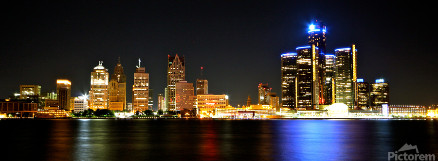 Detroit Skyline  Print