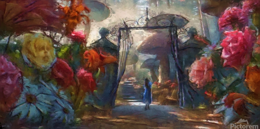 Flowers of Wonderland  Print