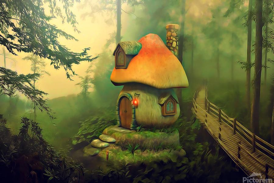 Mushroom Cottage  Print