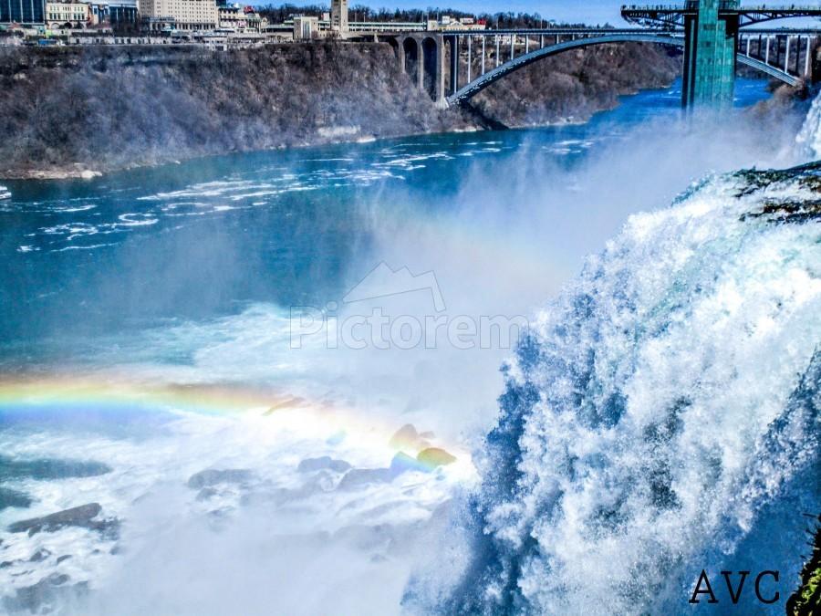Waterfall Rainbow  Print