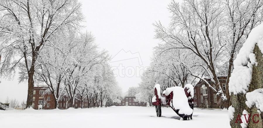Parade Ground-- Winter  Print