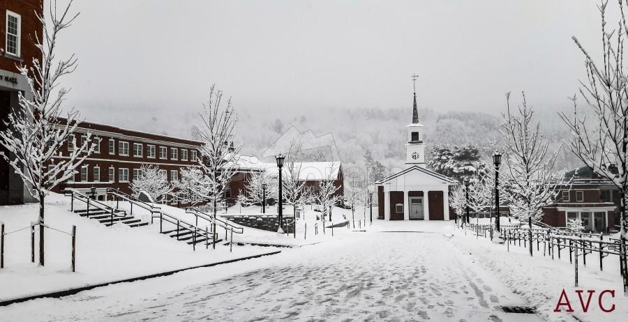 White Chapel-- Winter  Print