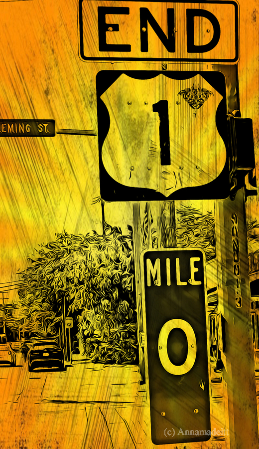 Key West Mile 0  Print