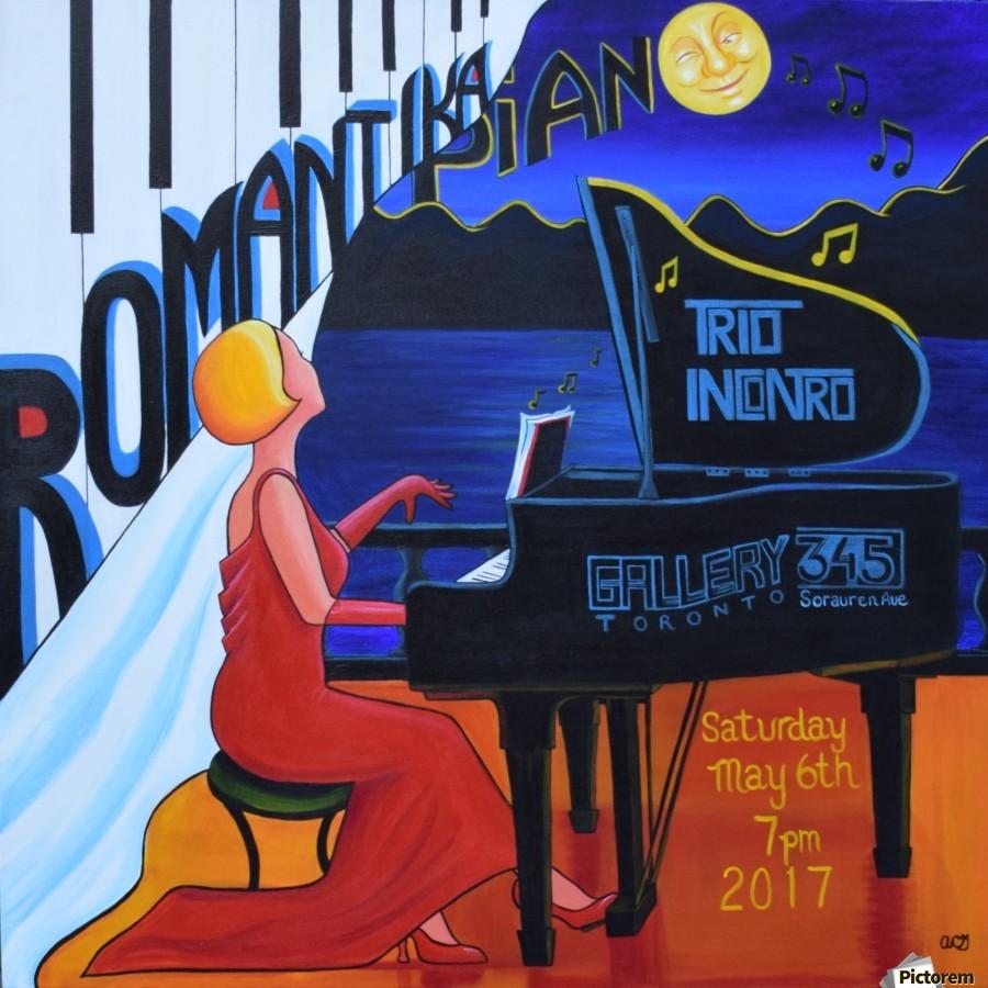 Romantika Piano  Print