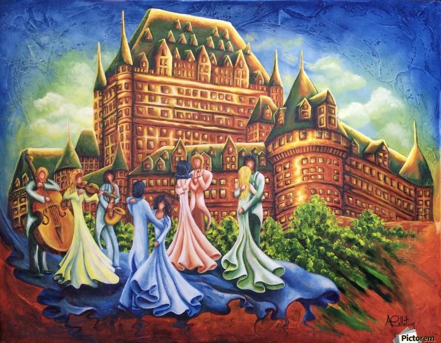 Jour de bal au Château  Print