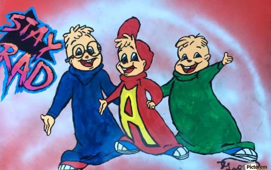 Stay Rad Alvin & The Chipmunks   Print