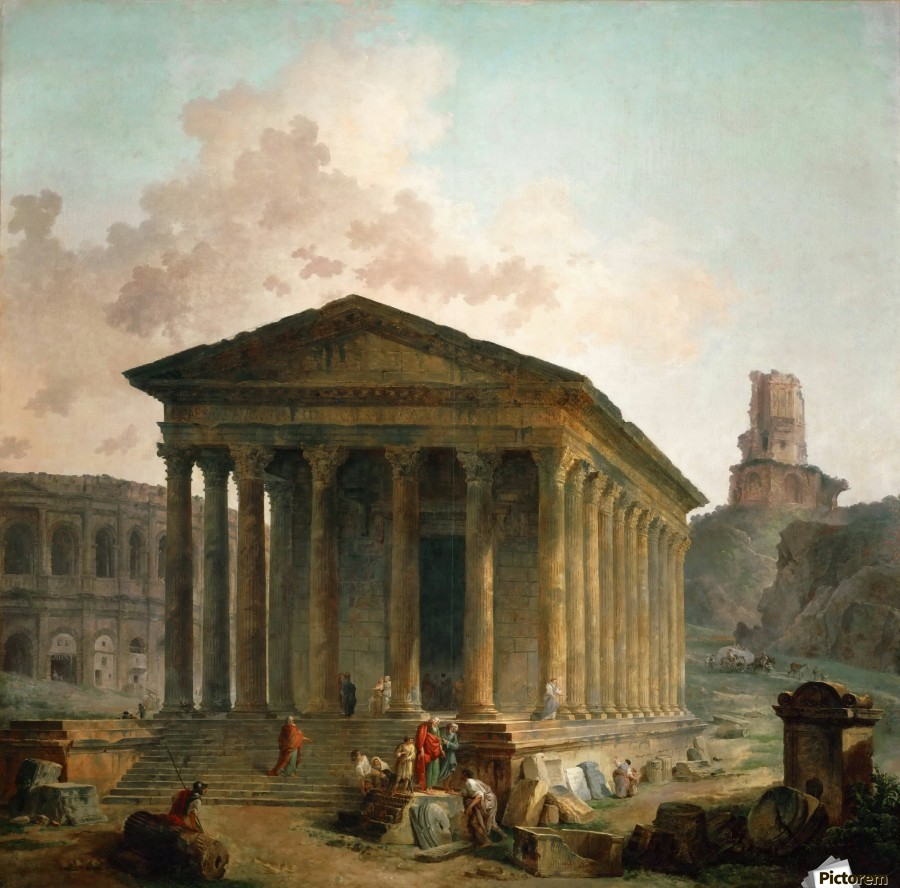 Antic ruins with figures  Print