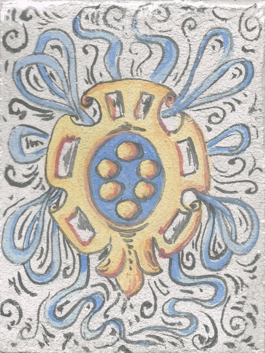Florentia_ Crest - fresco  Print