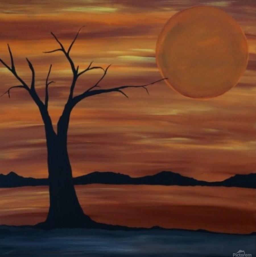 Ares tree acrylic painting  Print