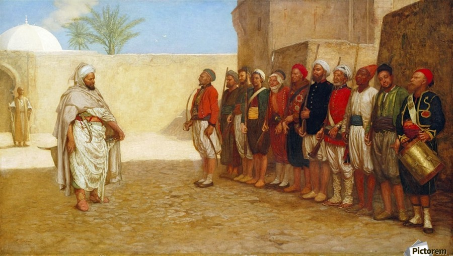 Army Reorganisation in Morocco 1872  Print