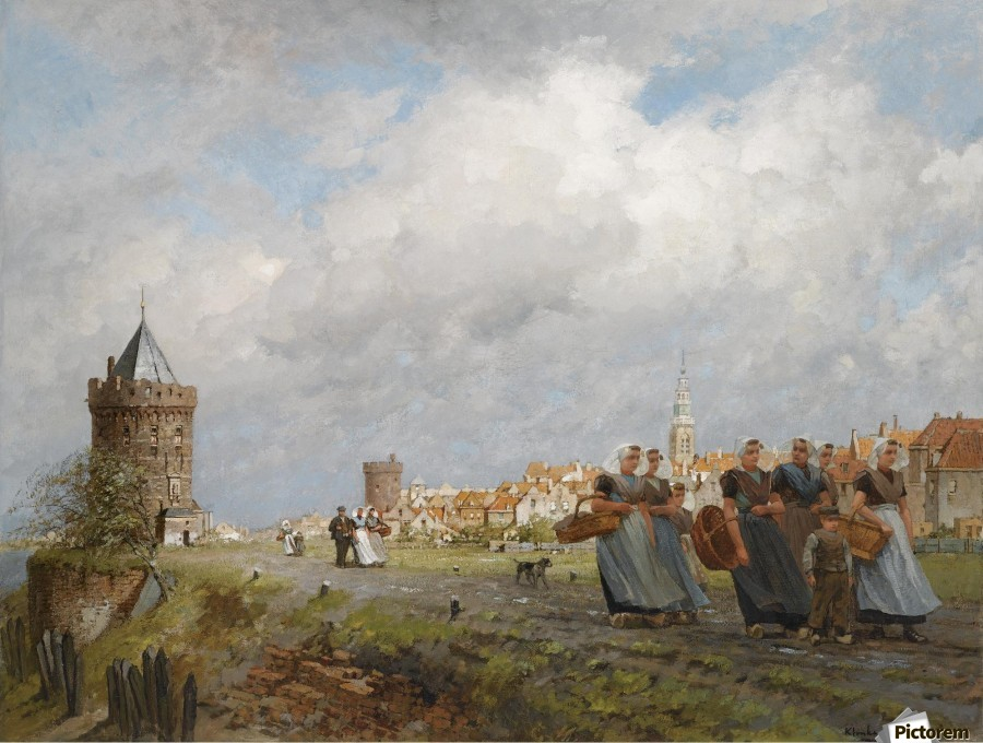 Arnemuiden Fisherwomen returning from the Market in Vlissingen  Print