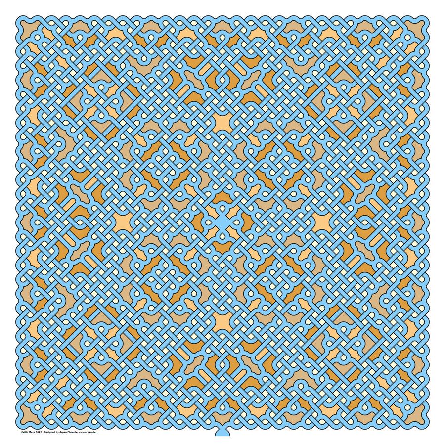 Celtic Maze 5022  Print