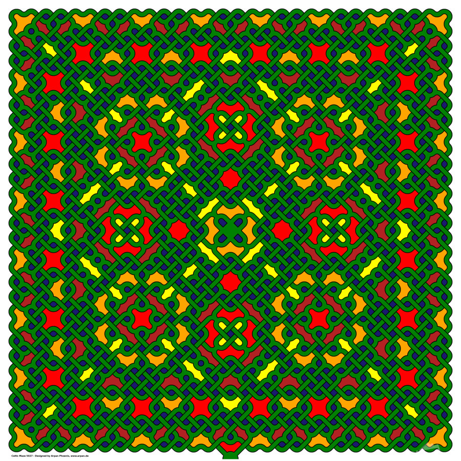 Celtic Maze 5027  Print
