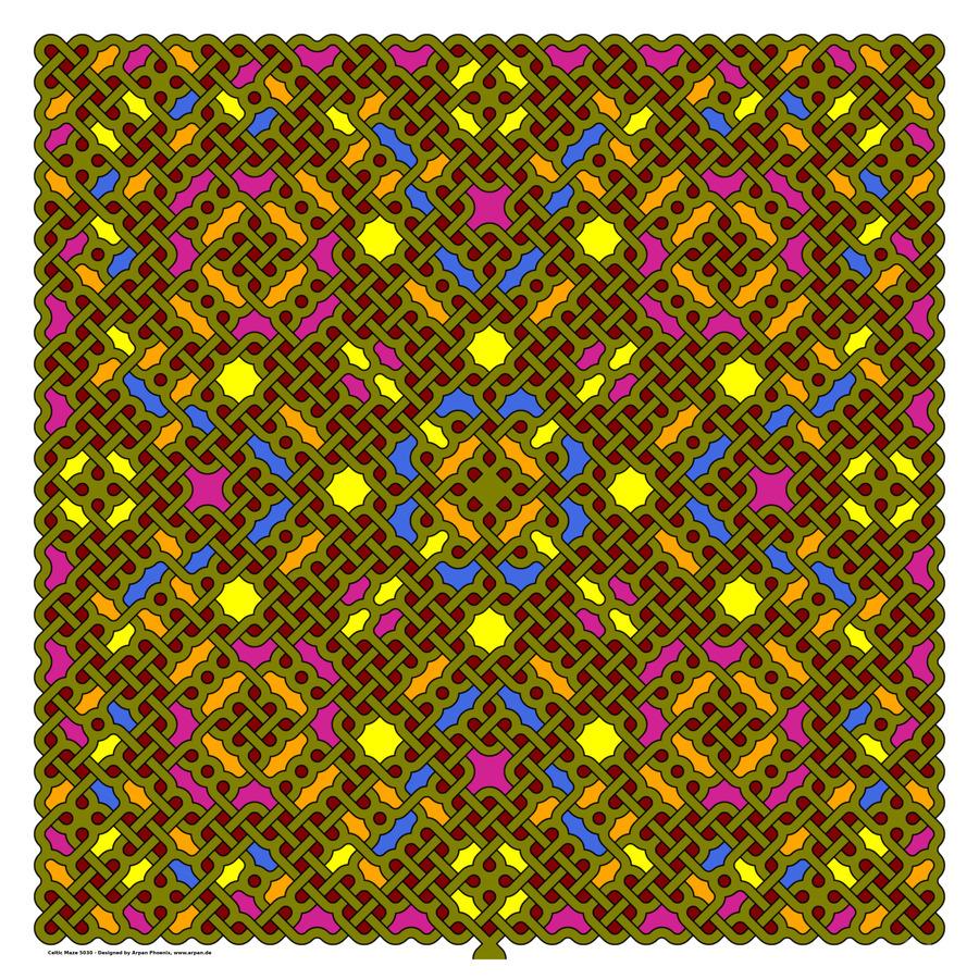 Celtic Maze 5030  Print