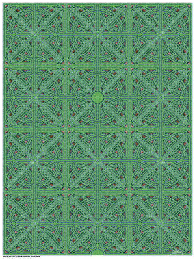 Labyrinth 3605  Print