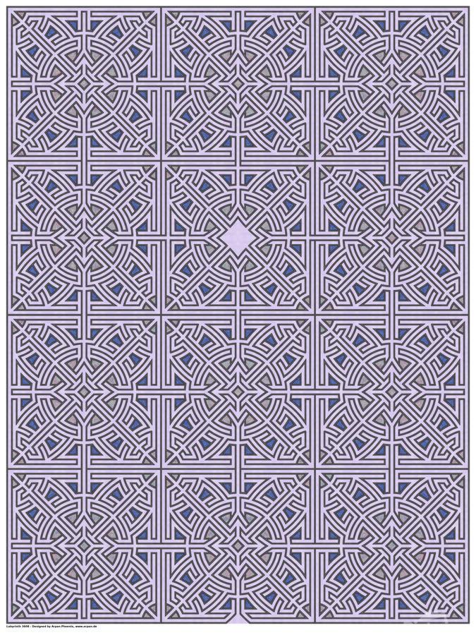 Labyrinth 3608  Print