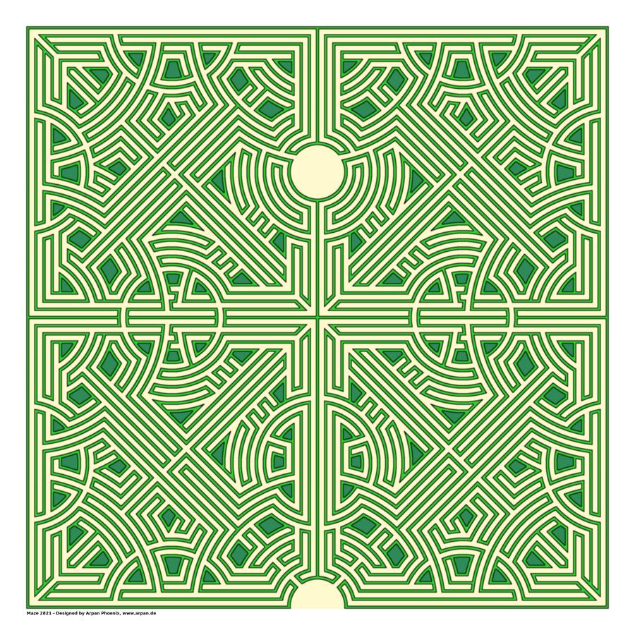 Maze 2821  Print