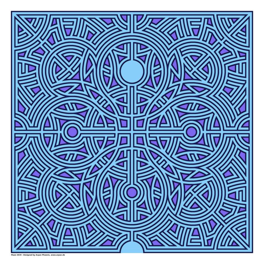 Maze 2839  Print