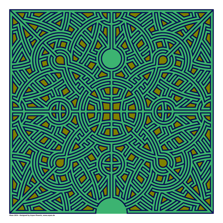 Maze 2854  Print